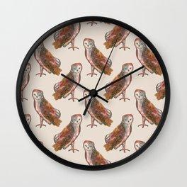 WITCH familiar owl pattern Wall Clock