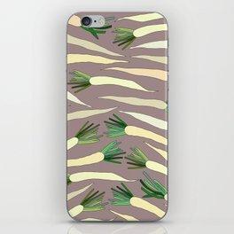 Daikon Radish Carrot Roots iPhone Skin