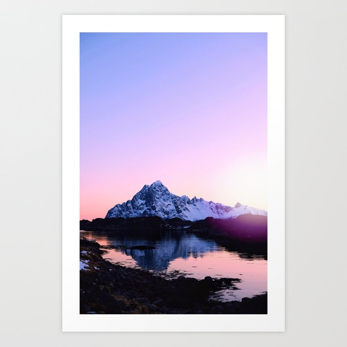 April sunset Art Print