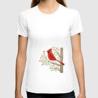 cardinal T-shirts featuring Cardinal by Stephanie Fizer Coleman