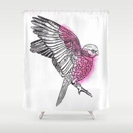 Flaming Galah Shower Curtain