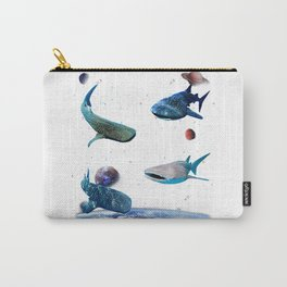 Universe Space Random Sharks Galaxy Fish water Whale Shark T-Shirt Carry-All Pouch