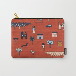 Citta in Red Carry-All Pouch