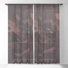 Abstract Astronomy in Crimson Red Sheer Curtain