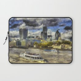 The River Thames And City Art Laptop Sleeve
