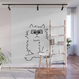 How Do You Like Meow Hipster Kitten Wall Mural
