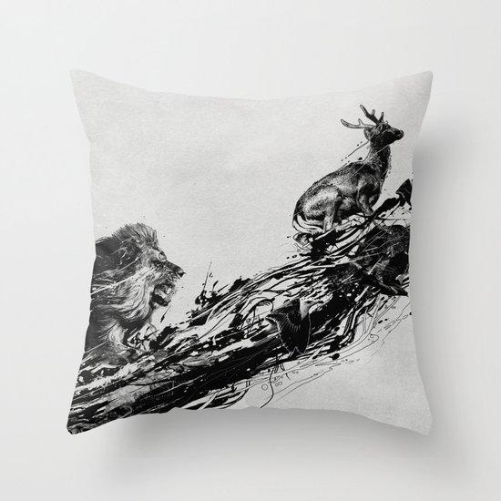 Intense Chasing Throw Pillow