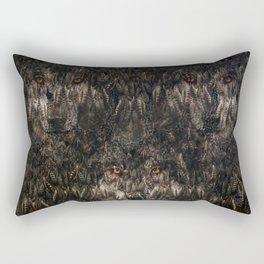Tree wolf  (feather pattern) Rectangular Pillow