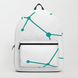 Gemini (Turquoise & White) Backpack