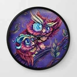 Wise Owl Wall Clock