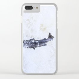 Salmon splash on the waterfall Clear iPhone Case