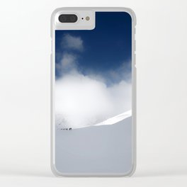 White Mountain Winter Clear iPhone Case