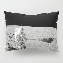 Apollo 14 - Black & White Moon Work Pillow Sham