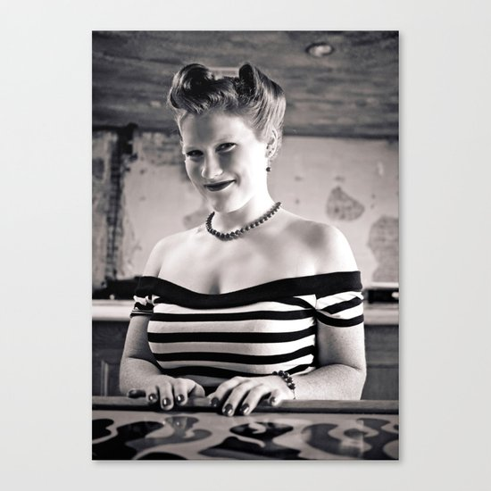 Retro portrait Canvas Print
