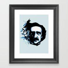 Edgar Allan Poe Crows Framed Art Print