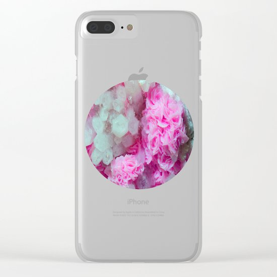 Desert Love Rose | Merry Crystals Clear iPhone Case