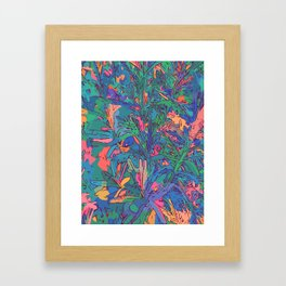 Neon color lavenders Framed Art Print