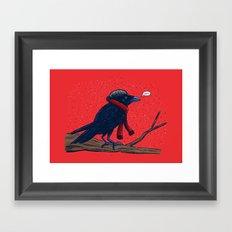 Annoyed IL Birds: The Crow Framed Art Print