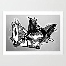 Avant que je m'ennuie - Emilie Record Art Print
