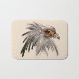 Secretary bird head Bath Mat