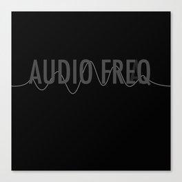 Audio Freq Canvas Print