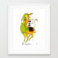 lama Framed Art Prints featuring Lama by ART OF SOOL