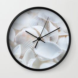 White Shells Wall Clock