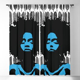 African Woman Blackout Curtain
