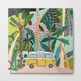 Jungle Camper Metal Print