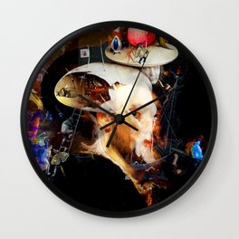 Bosch and Rubens Sandwich with a Peep of Magritte Wall Clock