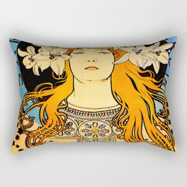 "Alphonse Mucha ""Sarah Bernhardt"" Rectangular Pillow"