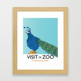 Visit the Zoo Peacock edition Framed Art Print