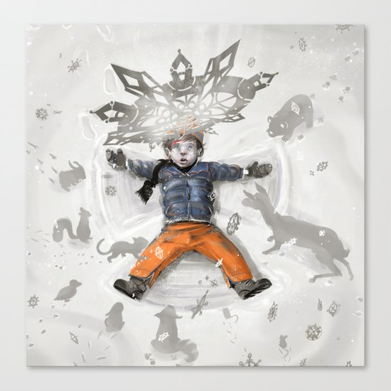 Snow Angel Canvas Print