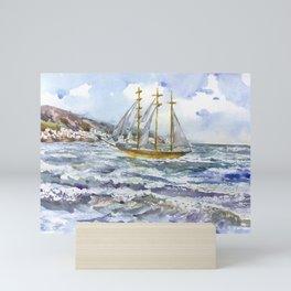 Freedom on the waves Mini Art Print