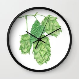 Beer Hop Flowers Wall Clock
