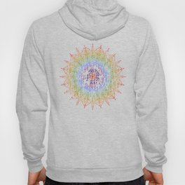 Rainbow Mandala Urban Decay Style - Vintage, Aged Pattern Hoody