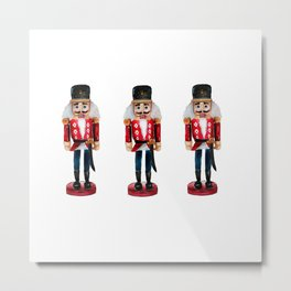 Watercolor Nutcracker trio Metal Print