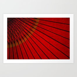 Japanese umbrella Art Print