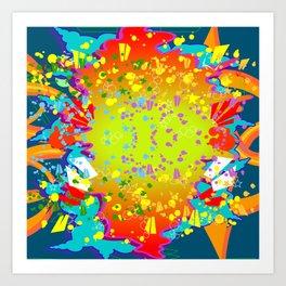 GRAFF EXPLOSION Art Print