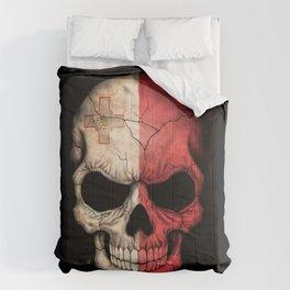 Dark Skull with Flag of Malta Comforters