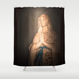 Mother of Immaculate Conception, St. Catejan's Church, Anjuna, Goa, India Shower Curtain