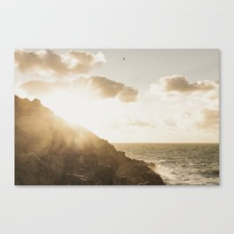 Autumn Sunshine, Pentire, Newquay, Cornwall. Canvas Print