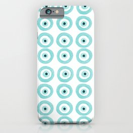 Baby Blue Evil Eye iPhone Case