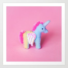 Fuzzy Unicorn Art Print