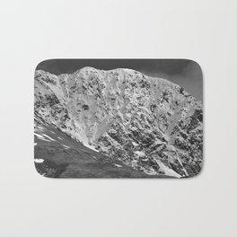 Fresh Snow in Portage Valley, Alaska - B & W Bath Mat