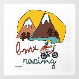BMX Racing Art Print