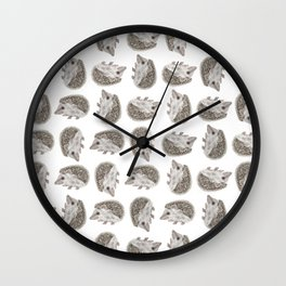 Hedgehog Jamboree Wall Clock