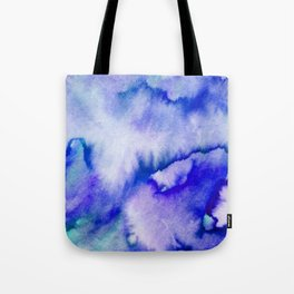 Watercolor texture - electric blue Tote Bag