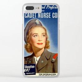 U.S Nurse corps Clear iPhone Case