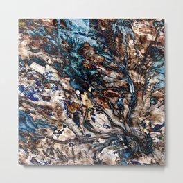 Flowing Water and Earth Pattern Metal Print
